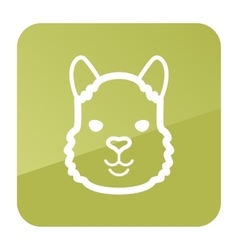 Lama icon Animal head symbol vector image vector image
