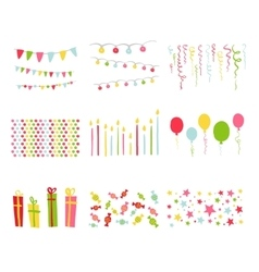 Scrapbook Design Elements Birthday Party Set vector image