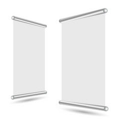 blank roll-up banner stand template vector image