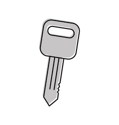 car key auto service repair isolated icon on white vector image
