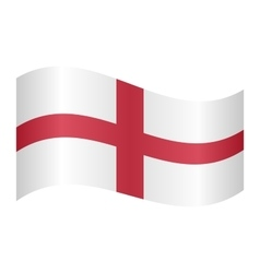 Flag of England waving vector image