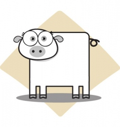 square animal pig vector image vector image