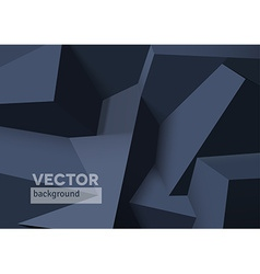 Abstract background with overlapping black cubes vector image vector image