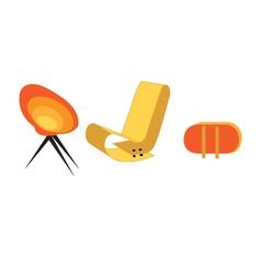 art deco furniture vector image