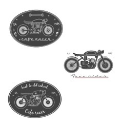 Big set of vintage motorcycle labels vector image vector image