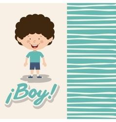 boy smiling design vector image