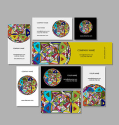 business cards design ethnic mandala vector image vector image