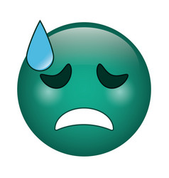 crying face emoticon funny icon vector image vector image