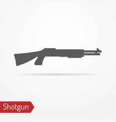 shotgun silhouette icon vector image