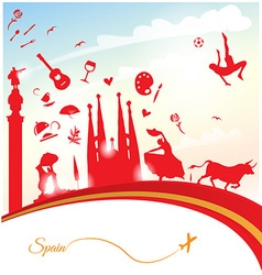Spain travel background vector