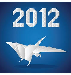 2012 paper dragon vector image