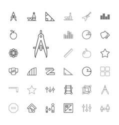 33 geometric icons vector