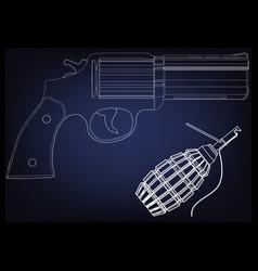3d model of a pistol vector