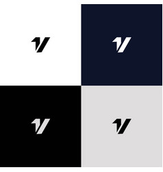 a simple and modern initial 1v logo design 2 vector image