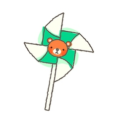 A view of pinwheel vector image