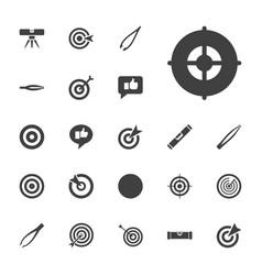 Accuracy icons vector