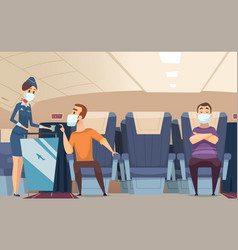 aircraft passengers airplane danger risk vector image