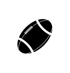 american football ball icon black on white vector image