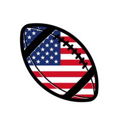 american football gridiron with usa flag vector image