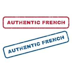 Authentic French Rubber Stamps vector image