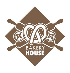 bakery house pastry food pretzel and buns rolling vector image