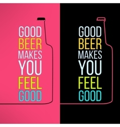 beer bottle design background with a cool vector image