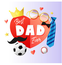 best dad in world paper banner elements vector image