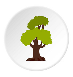 Big tree icon circle vector