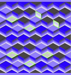 blue abstract texture background 3d cube vector image