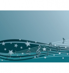 blue music vector image vector image