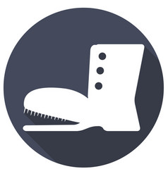 boots icon with a long shadow vector image