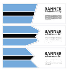 Botswana flag banners collection independence day vector