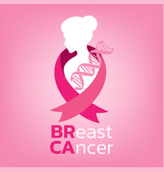 Breast cancer awareness logo icon design vector