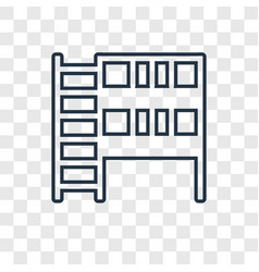 Bunk bed concept linear icon isolated on vector