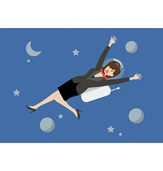 Business woman floating in the space vector