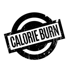 Calorie burn rubber stamp vector