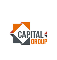 capital group icon vector image
