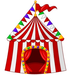 Cartoon circus tent isolated on white background vector image
