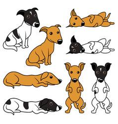 Cartoon doggy set vector