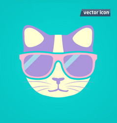 Cat in sunglasses vector