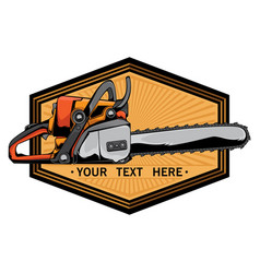 Chainsaw logo vector