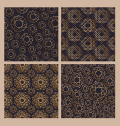 collection of abstract seamless patterns with vector image