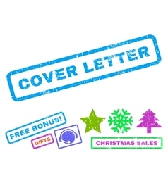 Cover Letter Rubber Stamp vector