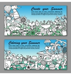 Create your summer fliers vector