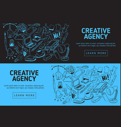 Creative agency website banner design vector