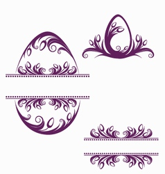 Easter decorative elements vector image