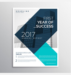 Elegant business flyer template design with vector