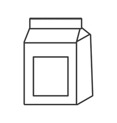 Food bag icon Bakery design graphic vector image
