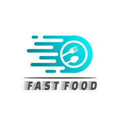 Food logo fast food concept icon vector