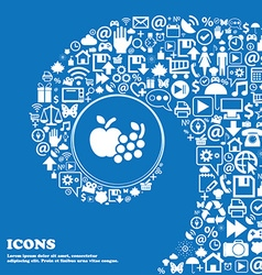 Fruits web icons sign Nice set of beautiful icons vector